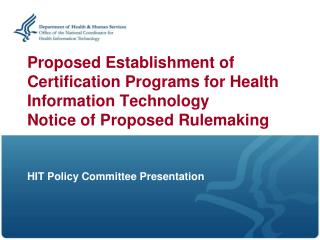 HIT Policy Committee Presentation