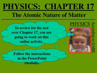 PHYSICS:  CHAPTER 17