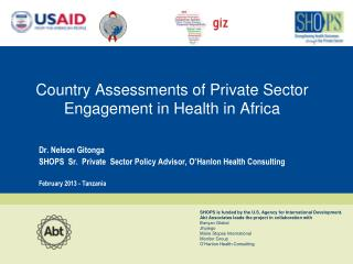 Country Assessments of Private Sector Engagement in Health in Africa