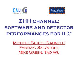 ZHH channel:  software and detector performances for ILC
