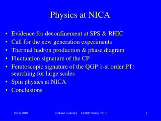 Physics at NICA