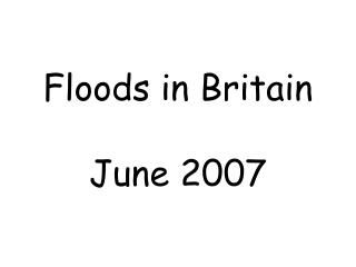 Floods in Britain June 2007
