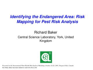 Identifying the Endangered Area: Risk Mapping for Pest Risk Analysis