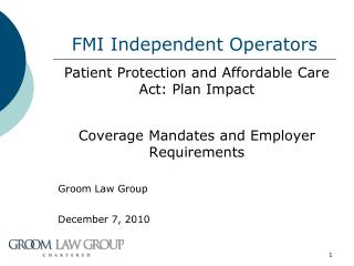 FMI Independent Operators
