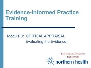 Evidence-Informed Practice Training