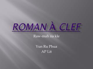 Roman à clef