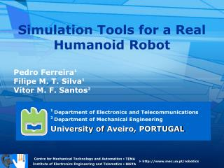 Simulation Tools for a Real Humanoid Robot