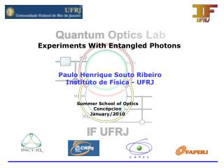 Experiments With Entangled Photons