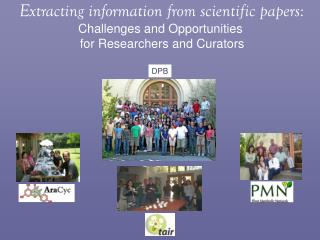 Extracting information from scientific papers: