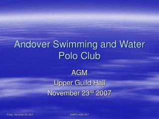 Andover Swimming and Water Polo Club