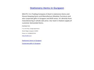 House keeping items in gurgaon