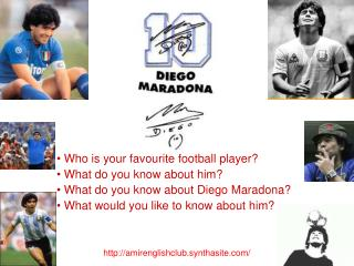 Who is your favourite football player?   What do you know about him?