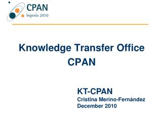 Knowledge  Transfer Office CPAN