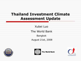 Thailand Investment Climate Assessment Update