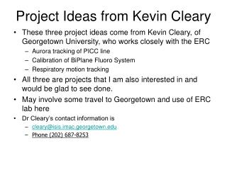 Project Ideas from Kevin Cleary
