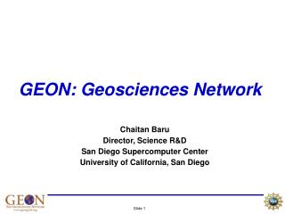 GEON: Geosciences Network