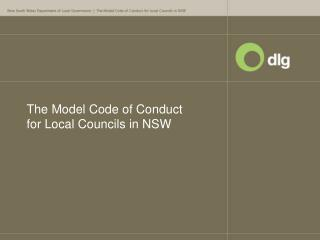 The Model Code of Conduct for Local Councils in NSW