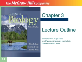 Chapter 3 Lecture Outline See PowerPoint Image Slides for all figures and tables pre-inserted into