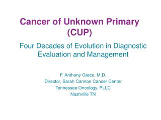 Cancer of Unknown Primary (CUP)