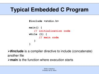 Typical Embedded C Program