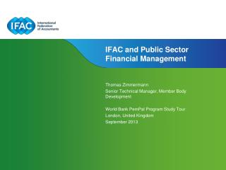 IFAC and Public Sector Financial Management