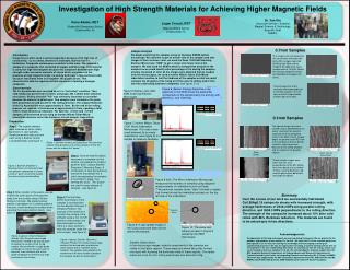 Investigation of High Strength Materials for Achieving Higher Magnetic Fields