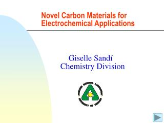 Novel Carbon Materials for Electrochemical Applications