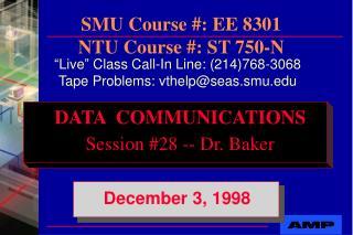 SMU Course #: EE 8301 NTU Course #: ST 750-N