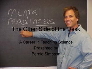 A career in teaching