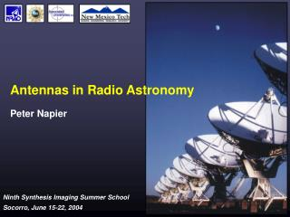 Antennas in Radio Astronomy