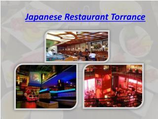 Japanese Restaurant Torrance