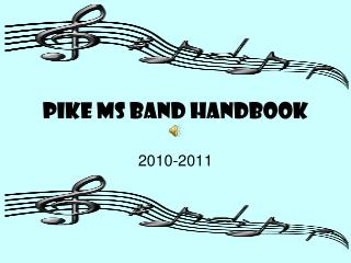 PIKE MS BAND HANDBOOK