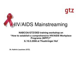 HIV/AIDS Mainstreaming