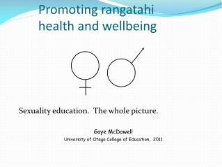 Promoting rangatahi         health and wellbeing