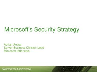 Microsoft's Security Strategy