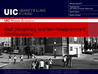 Staff Disciplinary and Non-Reappointment Considerations