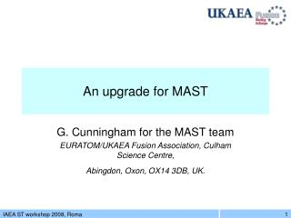An upgrade for MAST