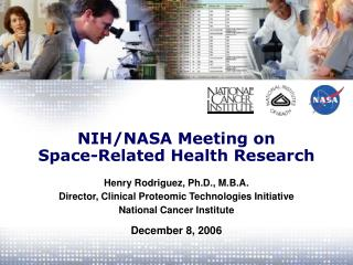 NIH/NASA Meeting on Space-Related Health Research