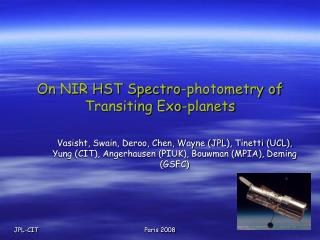 On NIR HST Spectro-photometry of Transiting Exo-planets