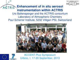 ACCENT-Plus Symposium Urbino, I, 17-20 September, 2013