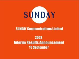 SUNDAY Communications Limited