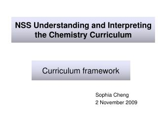 NSS Understanding and Interpreting the Chemistry Curriculum