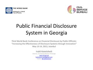 Public Financial Disclosure System in Georgia