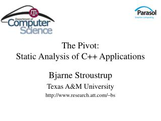 The Pivot: Static Analysis of C++ Applications