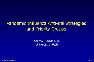 Pandemic Influenza Antiviral Strategies and Priority Groups