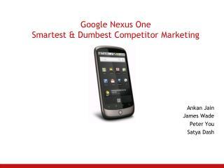 Google Nexus One Smartest & Dumbest Competitor Marketing