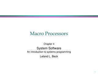 Macro Processors