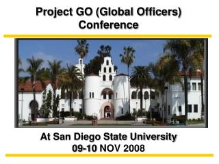 Project GO (Global Officers) Conference