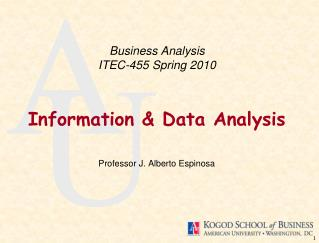 Business Analysis ITEC-455 Spring 2010