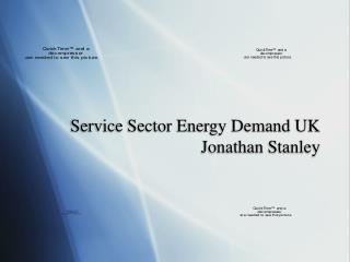 Service Sector Energy Demand UK Jonathan Stanley